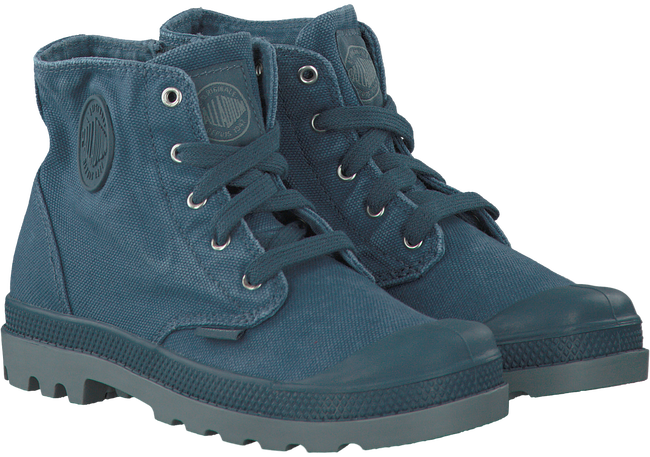 Graue PALLADIUM Ankle Boots PAMPA HI KIDS - large