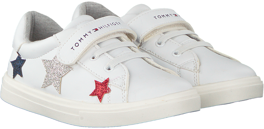 Weiße TOMMY HILFIGER Sneaker LOW CUT LACE UP/VELCRO  - larger