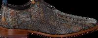Braune REHAB Business Schuhe GREG SNAKE FANTASY - medium