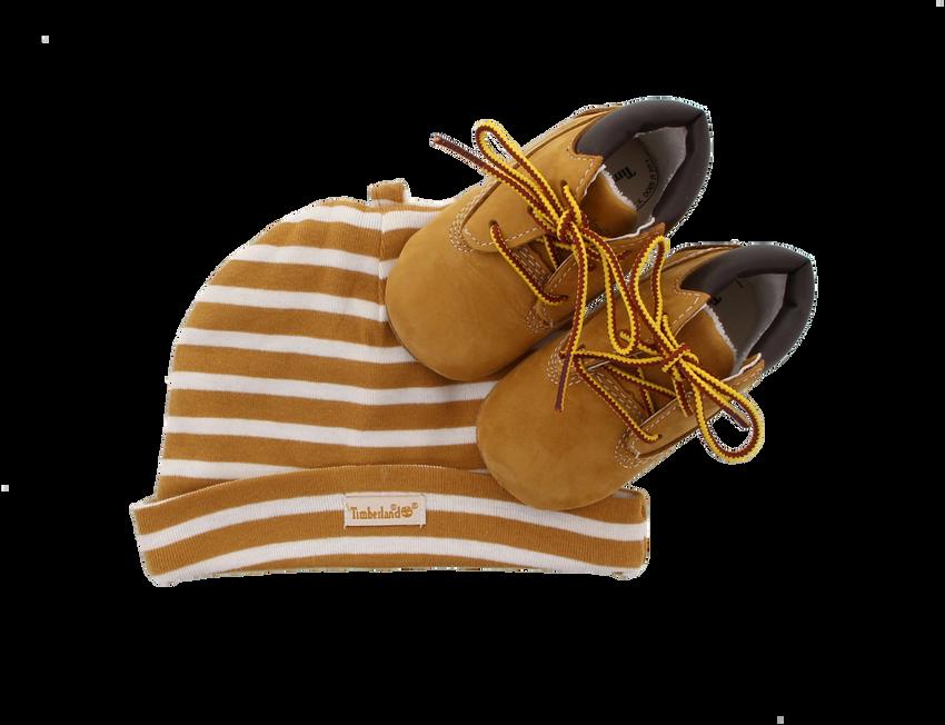 Camelfarbene TIMBERLAND Babyschuhe CRIB BOOTIE W/HAT - larger