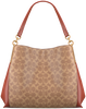 Cognacfarbene COACH Handtasche DALTON 31 SHOULDER BAG  - small