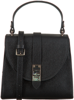 Schwarze GUESS Handtasche NEREA TOP HANDLE FLAP  - medium