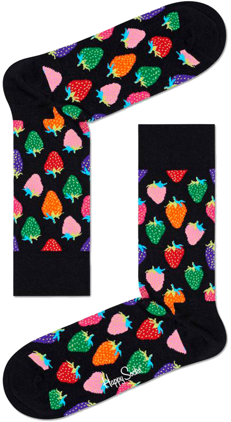 Mehrfarbige/Bunte HAPPY SOCKS Socken STRAWBERRY SOgEe