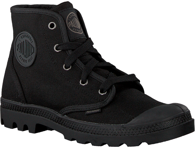 Schwarze PALLADIUM Ankle Boots PAMPA HIGH D - large