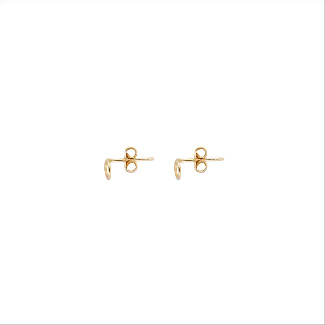 Goldfarbene ALLTHELUCKINTHEWORLD Ohrringe PETITE EARRINGS CIRCLE - large