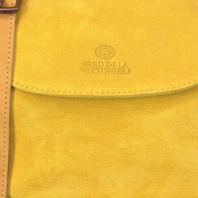 Gelbe FRED DE LA BRETONIERE Umhängetasche 231010002 - large