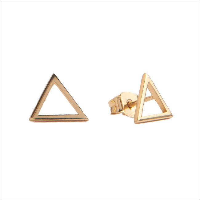 Goldfarbene ALLTHELUCKINTHEWORLD Ohrringe PARADE EARRINGS OPEN TRIANGLE - large