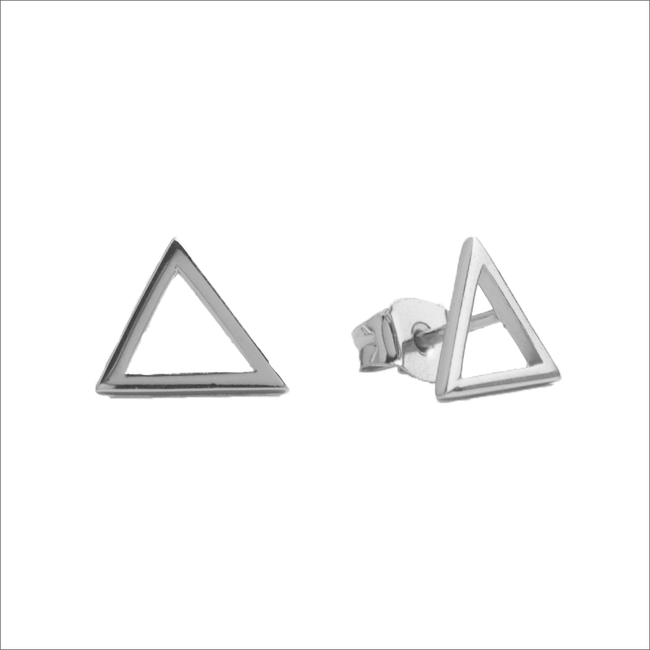 Silberne ALLTHELUCKINTHEWORLD Ohrringe PARADE EARRINGS OPEN TRIANGLE - large