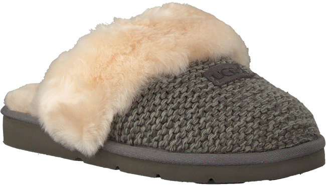 Graue UGG Hausschuhe COZY KNIT SLIPPER - large