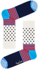 Weiße HAPPY SOCKS Socken STRIPES & DOT SOCK  - small