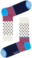 Weiße HAPPY SOCKS Socken STRIPES & DOT SOCK  - medium