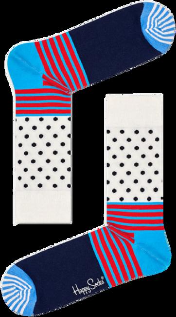 Weiße HAPPY SOCKS Socken STRIPES & DOT SOCK  - large