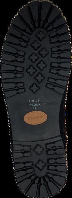 Schwarze BLACKSTONE Langschaftstiefel OM21 - large