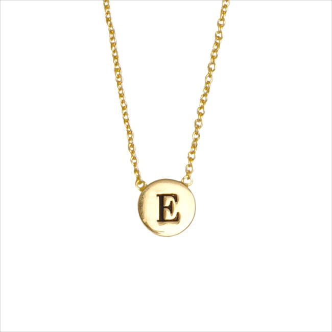 Goldfarbene ALLTHELUCKINTHEWORLD Kette CHARACTER NECKLACE LETTER GOLD - large