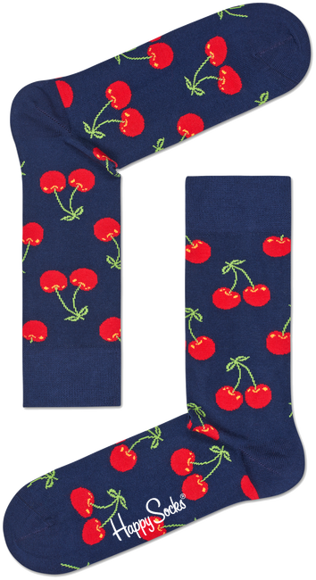 Blaue HAPPY SOCKS Socken CHERRY - large