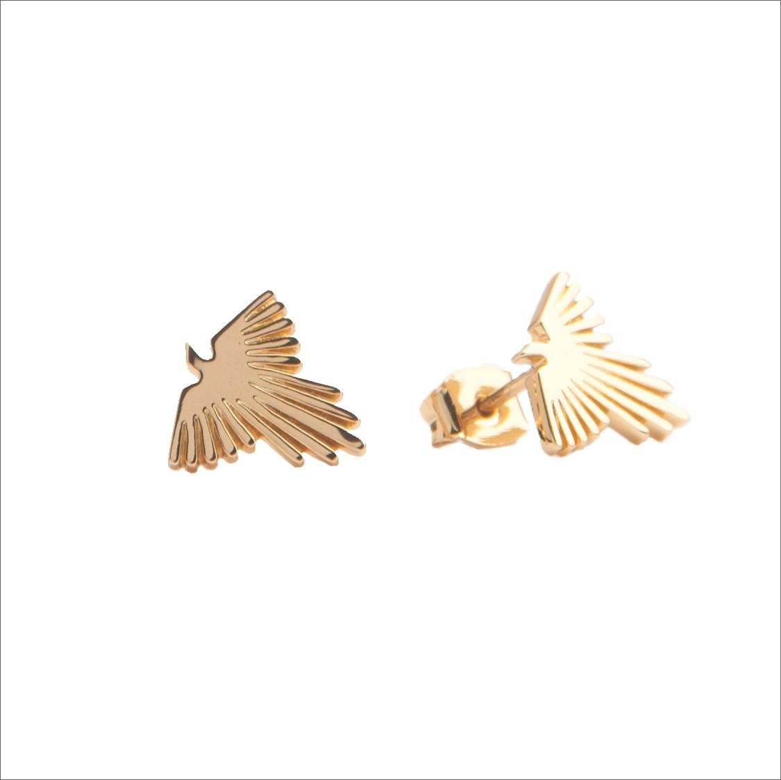 Goldfarbene ALLTHELUCKINTHEWORLD Ohrringe PARADE EARRINGS EAGLE 5oA6O
