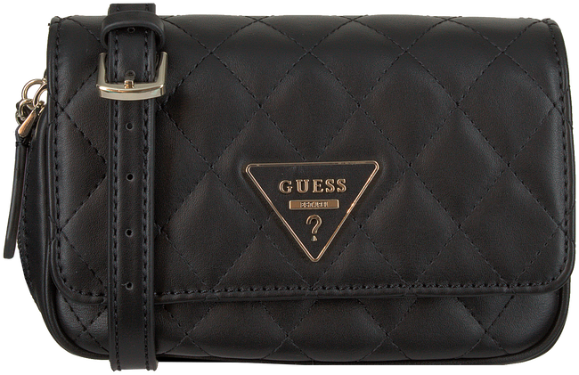 Schwarze GUESS Umhängetasche CALIFORNIA DREAM CNVT XBDY BB  - large