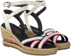 Weiße TOMMY HILFIGER Sandalen ICONIC ELBA CORPORATE  - small