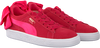 roze PUMA Sneakers SUEDE BOW JR  - small