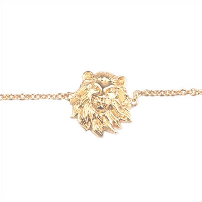 Goldfarbene ALLTHELUCKINTHEWORLD Armband SOUVENIR BRACELET LION - large