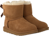 Cognacfarbene UGG Ankle Boots MINI BAILEY BOW II KIDS - small