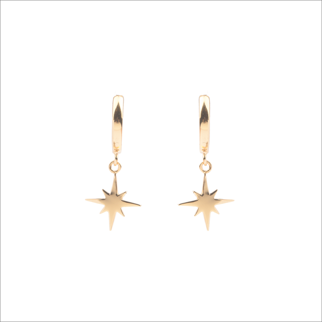 Goldfarbene ALLTHELUCKINTHEWORLD Ohrringe SOUVENIR EARRINGS STAR BURST - large