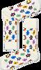 Weiße HAPPY SOCKS Socken TEDDYBEAR - small