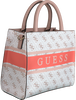 Weiße GUESS Handtasche MONIQUE MINI TOTE  - small