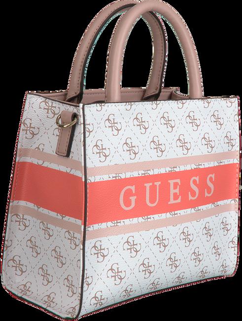 Weiße GUESS Handtasche MONIQUE MINI TOTE  - large