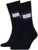Blaue TOMMY HILFIGER Socken TH JEANS FLAG  - small