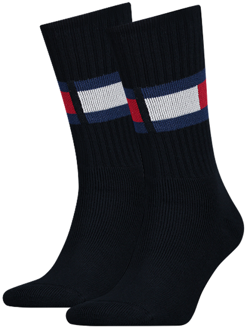 Blaue TOMMY HILFIGER Socken TH JEANS FLAG  - large