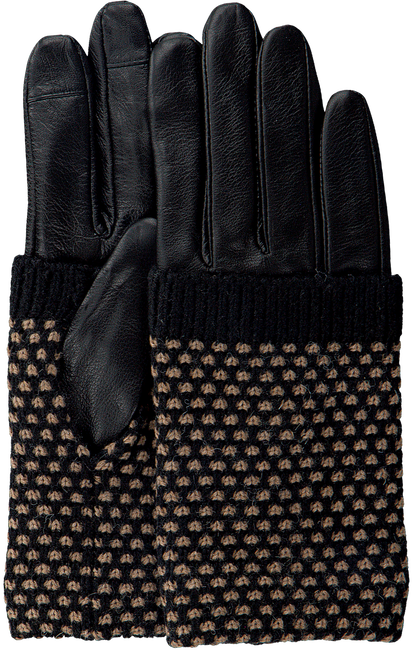 Schwarze BECKSONDERGAARD Handschuhe RIGA GLOVE  - large