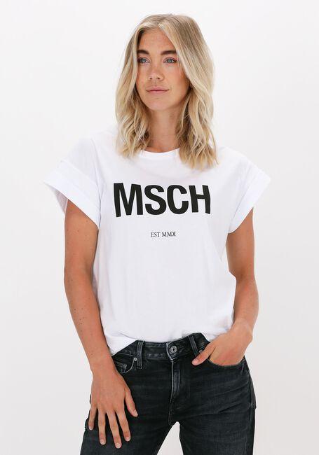 Weiße MSCH COPENHAGEN T-shirt ALVA MSCH STD TEE - large