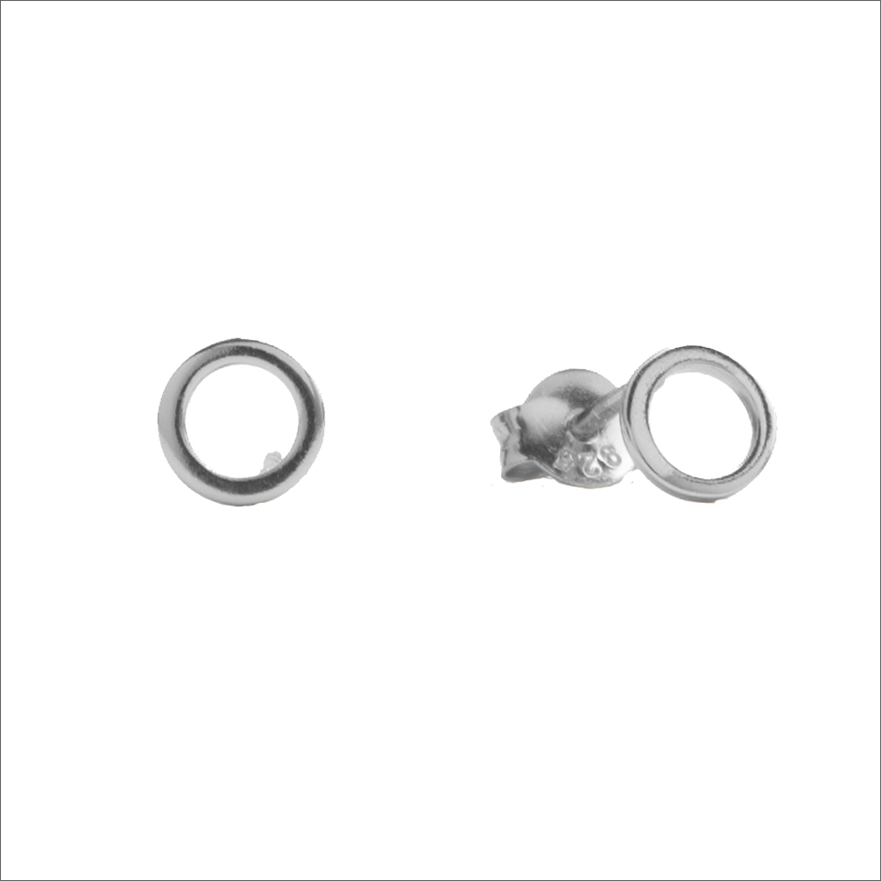 Silberne ALLTHELUCKINTHEWORLD Ohrringe PARADE EARRINGS OPEN CIRCLE oHmXz