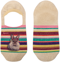 Mehrfarbige/Bunte XPOOOS Socken SUNDAY INVISIBLE  - medium