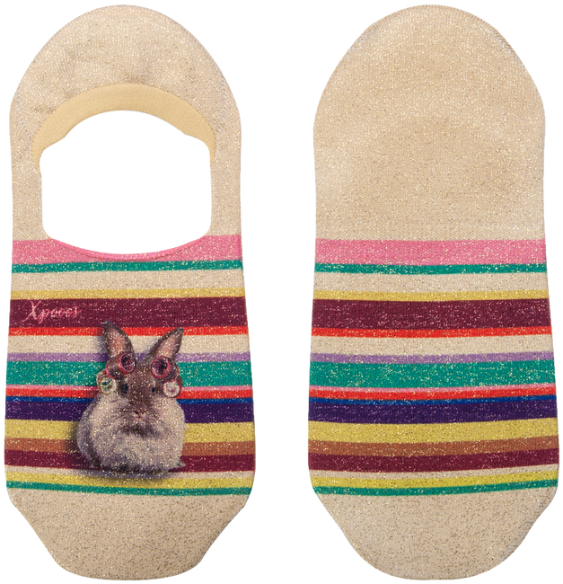 Mehrfarbige/Bunte XPOOOS Socken SUNDAY INVISIBLE  - large