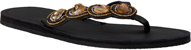 Schwarze OMODA KUBUNI Zehentrenner SLIPPER CIRCLE - large