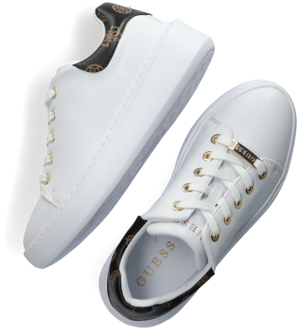Weiße GUESS Sneaker low BRADLY  - large