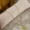 Goldfarbene NOTRE-V Kette KETTING MUNT  - small