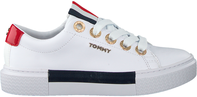 Weiße TOMMY HILFIGER Sneaker low LEATHER ELEVATED TOMMY  - large