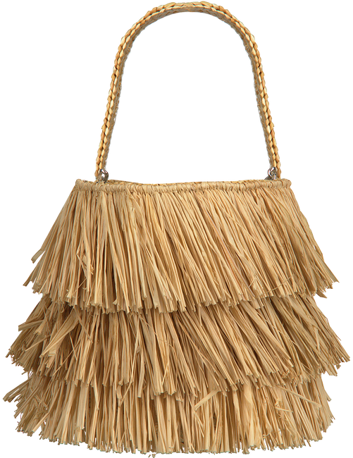 Beige BECKSONDERGAARD Handtasche FRINGE KULLU BAG  - large