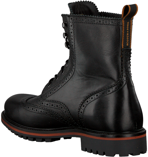 Schwarze SCOTCH & SODA Schnürboots BORREL  - large