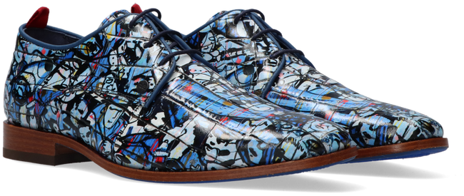 Blaue REHAB Business Schuhe FRED BROOD  - large