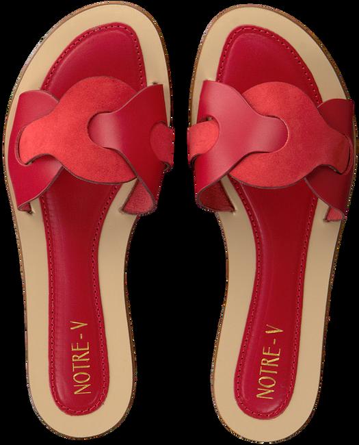 Rote NOTRE-V Pantolette 18701  - large