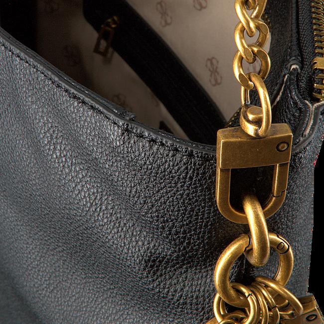 Schwarze GUESS Handtasche DESTINY HOBO  - large