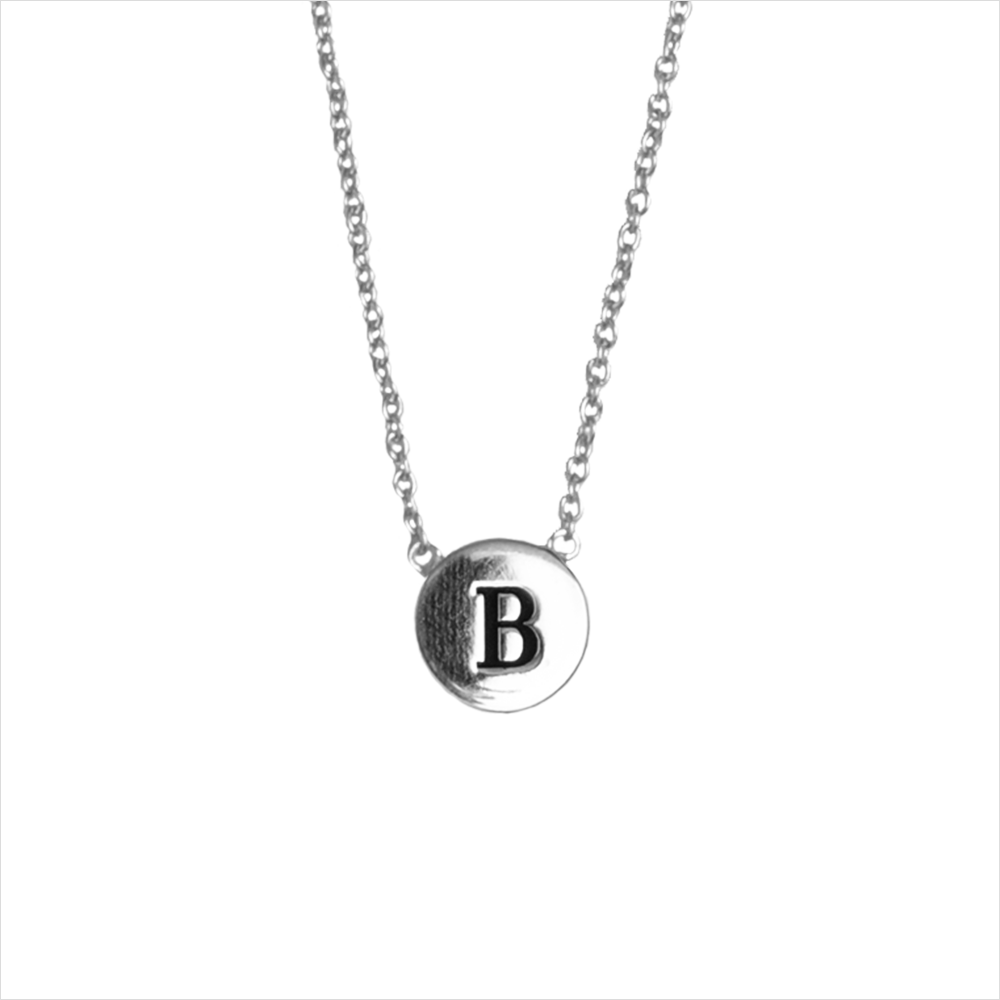 Silberne ALLTHELUCKINTHEWORLD Kette CHARACTER NECKLACE LETTER SILV zYdmo