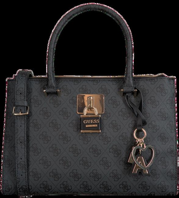 Beige GUESS Handtasche DOWNTOWN COOL STATUS SATCHEL  - large