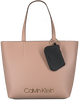 Beige CALVIN KLEIN Shopper CK MUST MEDIUM SHOPPER  - small