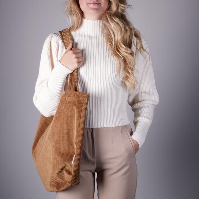 Braune STUDIO NOOS Shopper RIB MOM-BAG  - large