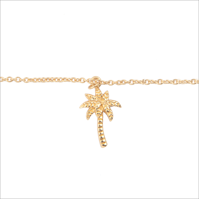 Goldfarbene ALLTHELUCKINTHEWORLD Armband SOUVENIR BRACELET PALM TREE - large